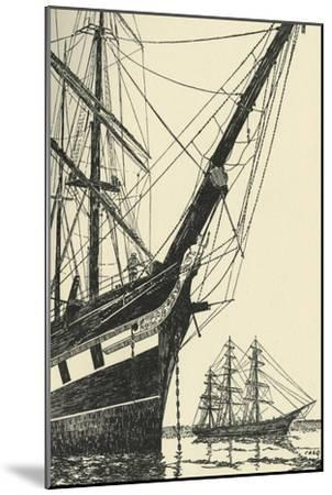 'The Cutty Sark (1869), in Falmouth Harbour', (1938)-Unknown-Mounted Giclee Print