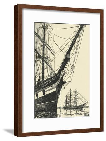 'The Cutty Sark (1869), in Falmouth Harbour', (1938)-Unknown-Framed Giclee Print