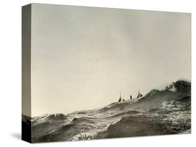 'The Towing Steamer Koonya...in a Heavy Sea', 1908, (1909)-Unknown-Stretched Canvas Print
