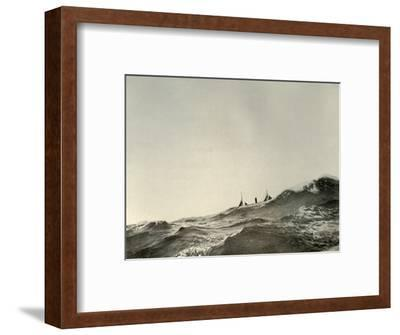 'The Towing Steamer Koonya...in a Heavy Sea', 1908, (1909)-Unknown-Framed Photographic Print