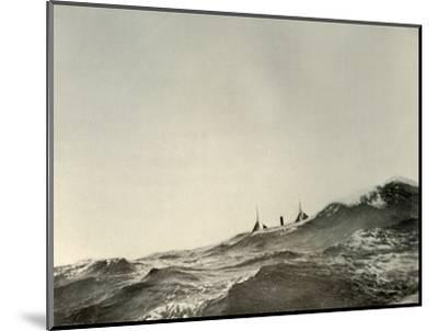 'The Towing Steamer Koonya...in a Heavy Sea', 1908, (1909)-Unknown-Mounted Photographic Print