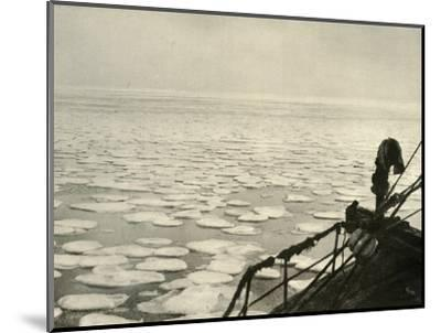 'Pancake Ice in the Ross Sea', c1908, (1909)-Unknown-Mounted Photographic Print