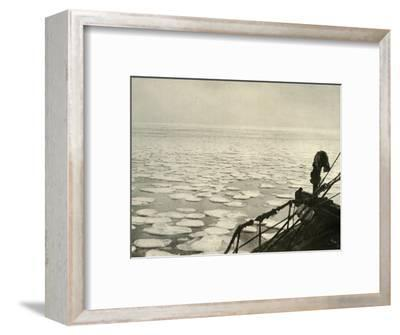 'Pancake Ice in the Ross Sea', c1908, (1909)-Unknown-Framed Photographic Print