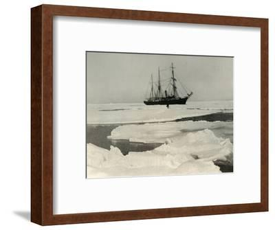 'The Nimrod Pushing Her Way Through More Open Pack', c1908, (1909)-Unknown-Framed Photographic Print