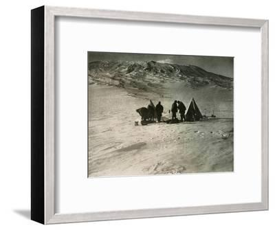 'The Camp 7000 Feet Up Mount Erebus', 1908, (1909)-Unknown-Framed Photographic Print