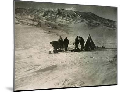 'The Camp 7000 Feet Up Mount Erebus', 1908, (1909)-Unknown-Mounted Photographic Print