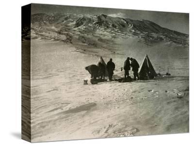 'The Camp 7000 Feet Up Mount Erebus', 1908, (1909)-Unknown-Stretched Canvas Print