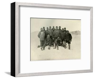 'A Group of the Shore Party at the Winter Quarters', c1908, (1909)-Unknown-Framed Photographic Print