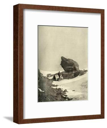 'A Great Kenyte Boulder Close To The Winter Quarters', c1908, (1909)-Unknown-Framed Photographic Print
