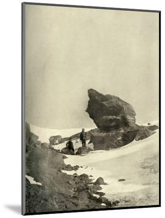 'A Great Kenyte Boulder Close To The Winter Quarters', c1908, (1909)-Unknown-Mounted Photographic Print