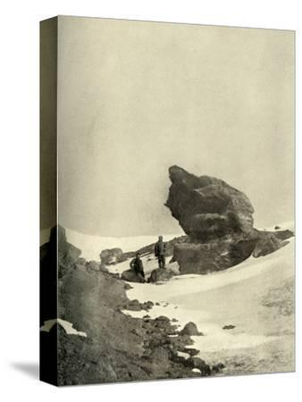'A Great Kenyte Boulder Close To The Winter Quarters', c1908, (1909)-Unknown-Stretched Canvas Print