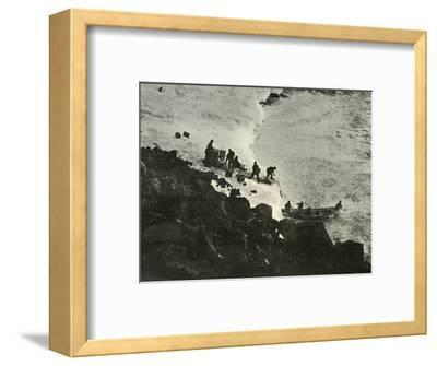 'Landing Stores from the Boat at the First Landing-Place', c1908, (1909)-Unknown-Framed Photographic Print