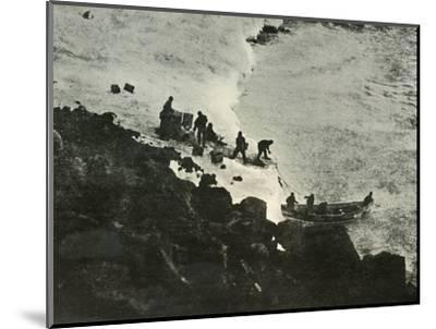 'Landing Stores from the Boat at the First Landing-Place', c1908, (1909)-Unknown-Mounted Photographic Print