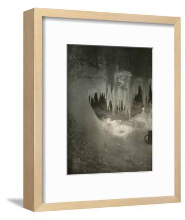 'An Ice Cavern in the Winter. Photographed by the Light of Hurricane Lamps', c1908, (1909)-Unknown-Framed Photographic Print