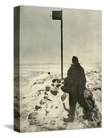 'Professor David Standing By Mawson's Anemometer', c1908, (1909)-Unknown-Stretched Canvas Print