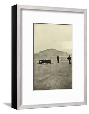 'Sledging on the Barrier Before the Return of the Sun', c1908, (1909)-Unknown-Framed Photographic Print