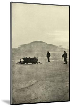 'Sledging on the Barrier Before the Return of the Sun', c1908, (1909)-Unknown-Mounted Photographic Print