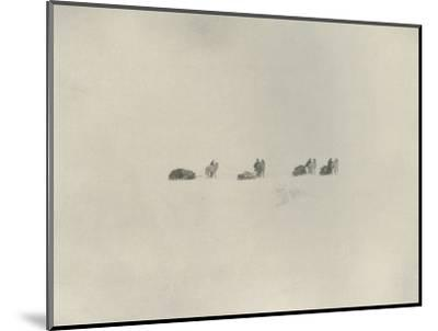 'The Southern Party Marching into the White Unknown', 1908, (1909)-Unknown-Mounted Photographic Print