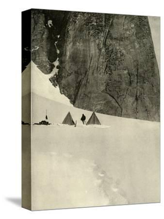 'The Camp Under the Granite Pillar, Half a Mile from the Lower Glacier Depot...January 27', 1909-Unknown-Stretched Canvas Print