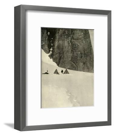 'The Camp Under the Granite Pillar, Half a Mile from the Lower Glacier Depot...January 27', 1909-Unknown-Framed Photographic Print