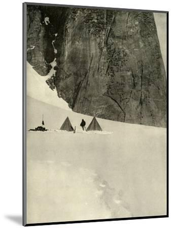 'The Camp Under the Granite Pillar, Half a Mile from the Lower Glacier Depot...January 27', 1909-Unknown-Mounted Photographic Print