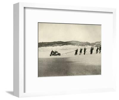 'The Motor-Car in Soft Snow, after the return of the Ship', c1908, (1909)-Unknown-Framed Photographic Print