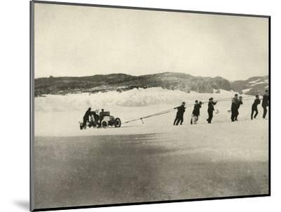 'The Motor-Car in Soft Snow, after the return of the Ship', c1908, (1909)-Unknown-Mounted Photographic Print