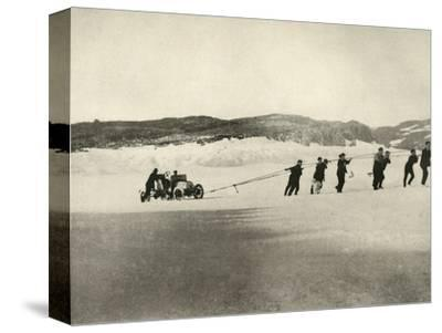 'The Motor-Car in Soft Snow, after the return of the Ship', c1908, (1909)-Unknown-Stretched Canvas Print
