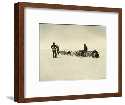 'Bluff Depot Party on the Barrier', c1908, (1909)-Unknown-Framed Photographic Print