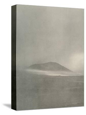 'The Start of a Blizzard...Drift Coming Round Mount Erebus', c1908, (1909)-Unknown-Stretched Canvas Print