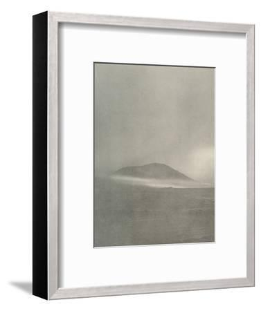 'The Start of a Blizzard...Drift Coming Round Mount Erebus', c1908, (1909)-Unknown-Framed Photographic Print