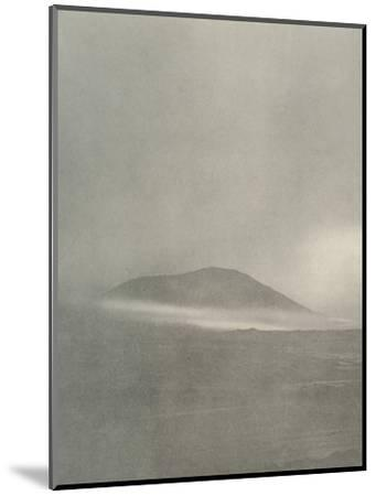 'The Start of a Blizzard...Drift Coming Round Mount Erebus', c1908, (1909)-Unknown-Mounted Photographic Print