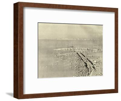'A Typical Crevasse on Level Surface', c1908, (1909)-Unknown-Framed Photographic Print