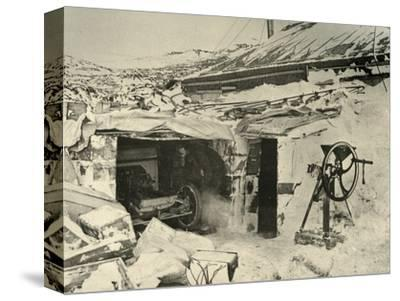 'The Motor Car in the Garage, and Maize-Crusher on the right', c1908, (1909)-Unknown-Stretched Canvas Print