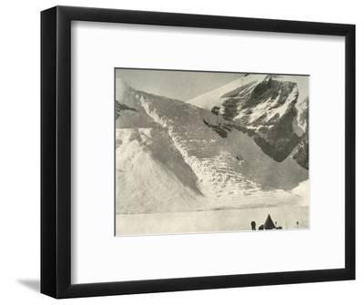 'Western Party's camp on December 28 below a hanging glacier at the Cathedral rocks', 1909-Unknown-Framed Photographic Print