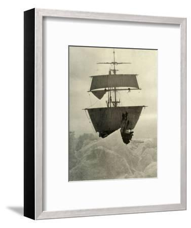 'The Nimrod Held Up in the Ice', 1908, (1909)-Unknown-Framed Photographic Print