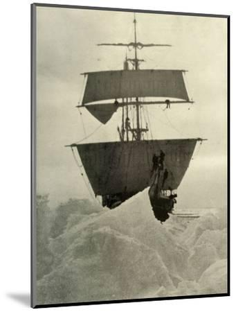 'The Nimrod Held Up in the Ice', 1908, (1909)-Unknown-Mounted Photographic Print