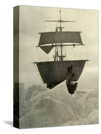 'The Nimrod Held Up in the Ice', 1908, (1909)-Unknown-Stretched Canvas Print