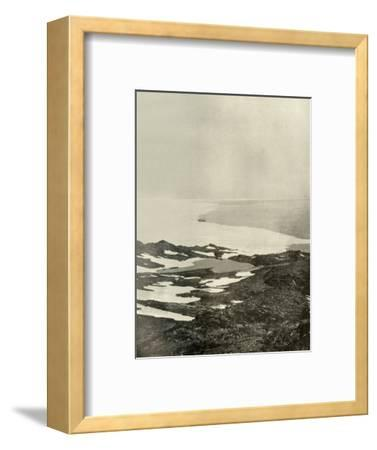 'The Ship off Pram Point, Just Before Leaving for the North', c1908, (1909)-Unknown-Framed Photographic Print