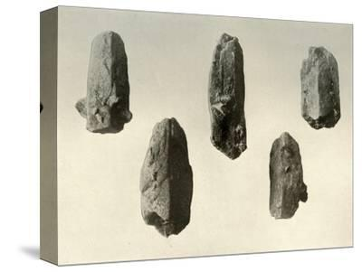 'Feldspar Crystals from Summit of Mount Erebus (Natural Size)', 1909-Unknown-Stretched Canvas Print