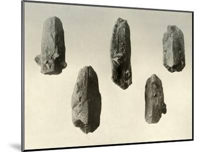 'Feldspar Crystals from Summit of Mount Erebus (Natural Size)', 1909-Unknown-Mounted Photographic Print