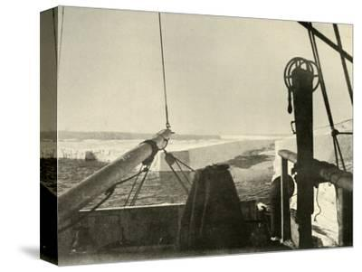 'The Barrier Edge Breaking Away Four Miles South of Hut Point', c1908, (1909)-Unknown-Stretched Canvas Print