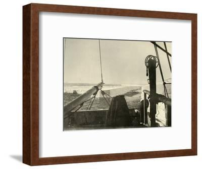 'The Barrier Edge Breaking Away Four Miles South of Hut Point', c1908, (1909)-Unknown-Framed Photographic Print