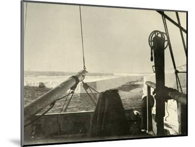 'The Barrier Edge Breaking Away Four Miles South of Hut Point', c1908, (1909)-Unknown-Mounted Photographic Print