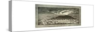 'Erebus Eruption...Showing upper air currents', 14 June 1908, (1909)-Unknown-Stretched Canvas Print