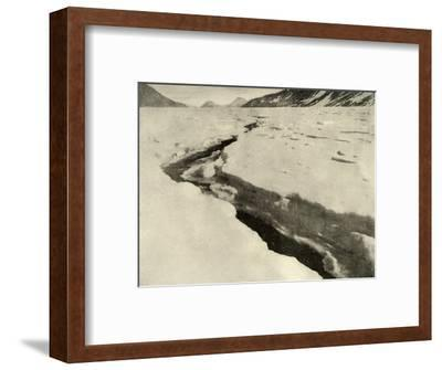 'Stream of Running Water in the Middle of the Ferrar Glacier in Midsummer', c1908, (1909)-Unknown-Framed Photographic Print