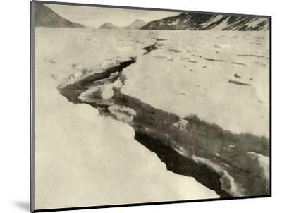'Stream of Running Water in the Middle of the Ferrar Glacier in Midsummer', c1908, (1909)-Unknown-Mounted Photographic Print