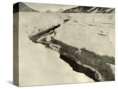 'Stream of Running Water in the Middle of the Ferrar Glacier in Midsummer', c1908, (1909)-Unknown-Stretched Canvas Print