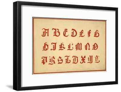 Alphabet, letters A-Z, upper case-Unknown-Framed Giclee Print
