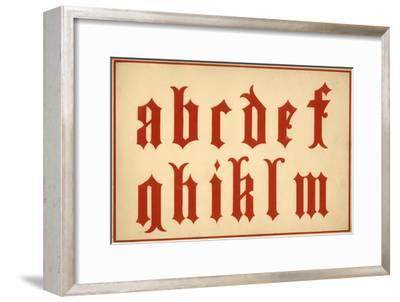 Alphabet, letters a-m, lower case-Unknown-Framed Giclee Print